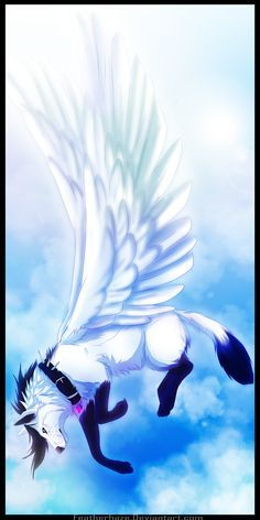 with wings anime Wolves