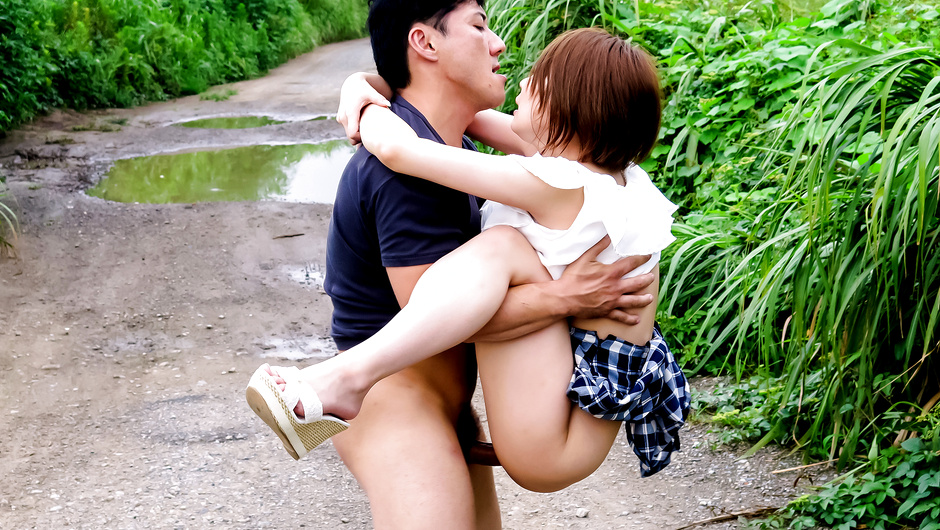 Outdoor asian uncensored redhead