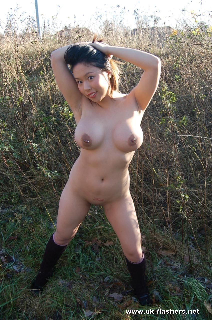 outdoor woman asian Chubby