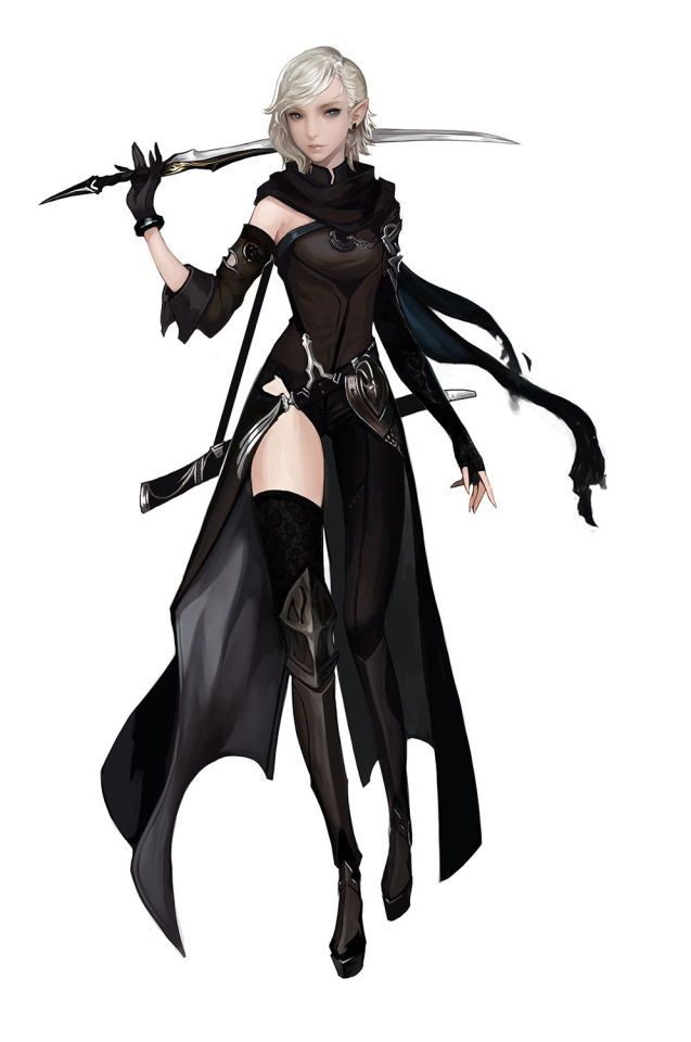 Anime girl assassin outfit