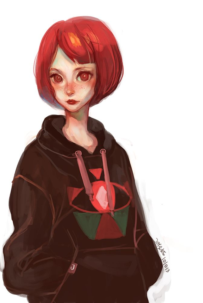 anime characters red hair Short