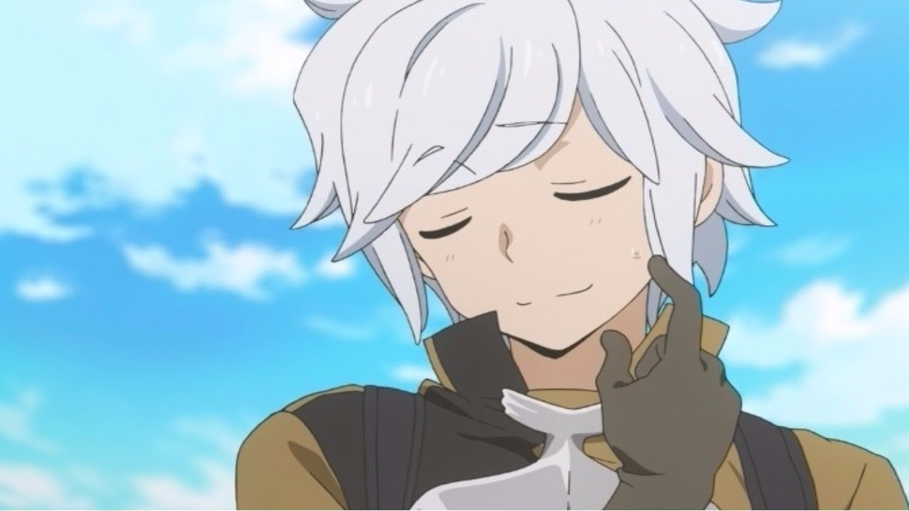haired anime male White