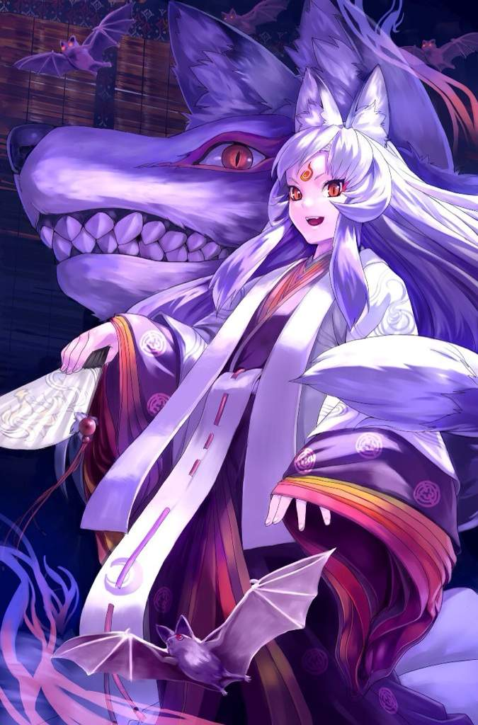 White haired anime male